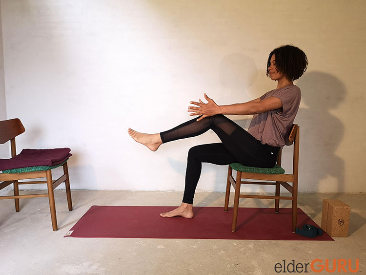 Seated Boat Pose-Arms Forward