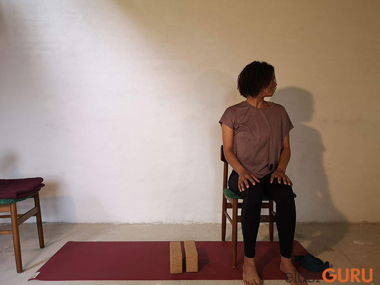 Seated Neck Stretches-Nose to the left